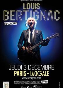 Bertignac - Affiche La Cigale - 03/12/2015