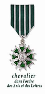 Médaille Chevalier dans l'Ordre des Arts et des Lettres